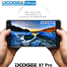 Doogee X7 pro мобильные телефоны 6.0 Дюйма HD IPS 2.5D 2 ГБ RAM + 16 ГБ ROM MTK6737 Android6.0 Dual SIM Quad Core 8.0MP 3700 мАч WCDMA LTE(China)