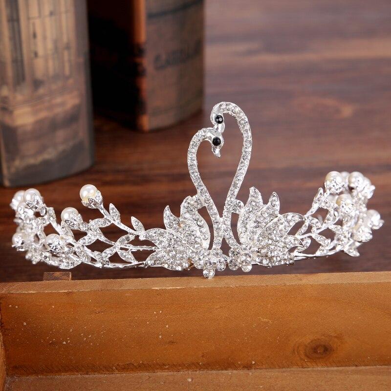 Diverse Silver Crystal Bride tiara Crown Fashion Pearl Queen Wedding Crown Headpiece Wedding Hair Jewelry Accessories Wholesale 8