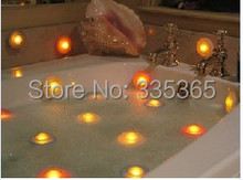 free shipping 50pcs X waterproof  floating LED bath light / RGB underwater led spa light