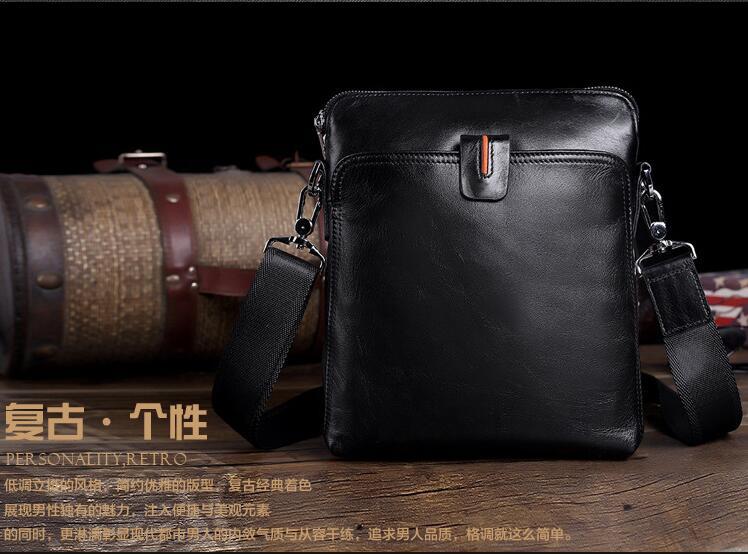 Hot selling mens genuine leather mini mesenger bag casual cowhide shoulder bag first layer leather business bag <br><br>Aliexpress