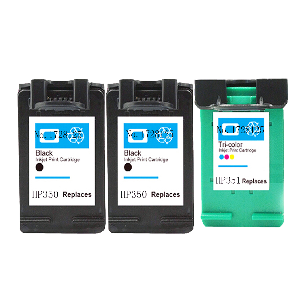 3 Pack ink cartridge CB337EE for hp 350 XL CB338EE for hp 351 XL PhotosmartC4280 C4380 C4480 C4580 C5280 All-in-One-Printer<br><br>Aliexpress
