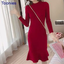 Buy 2018 Spring Korean Style New Fashion Party Dress Casual Long Sleeve Ruffles Women Dress Vestidos Elegant Womens Clothing Mujer for $20.89 in AliExpress store