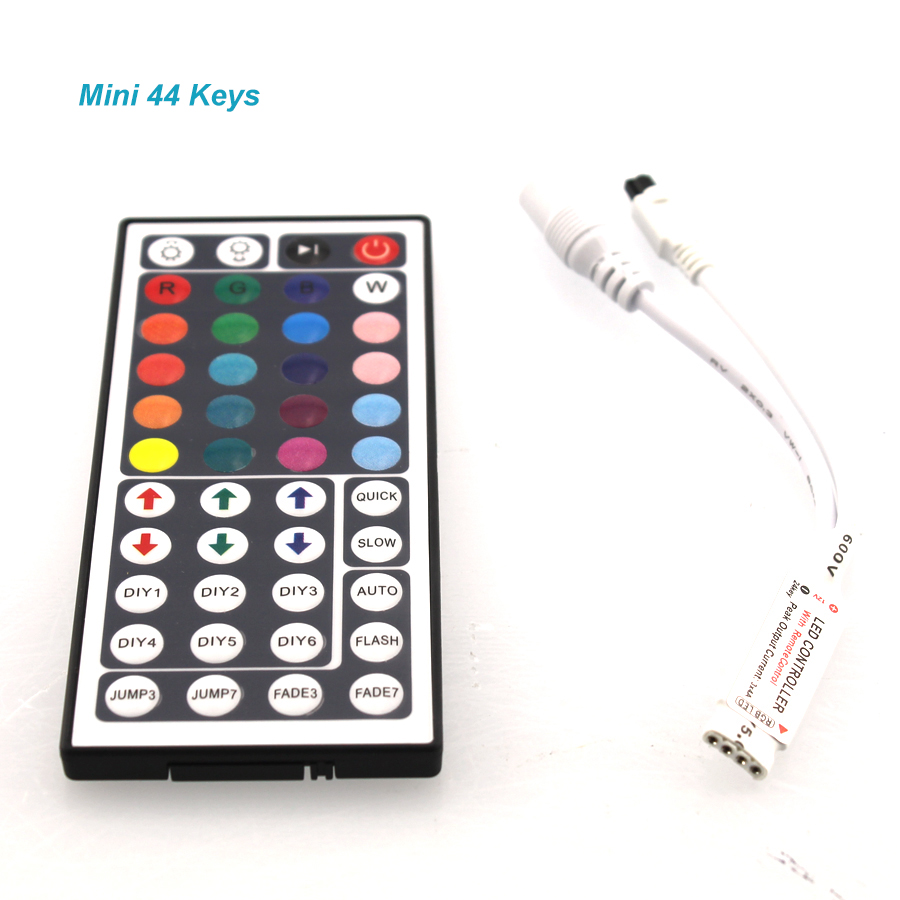 24 Keys / 44 Keys RGB IR/Mini Remote Controller DC12V Controller For SMD3528/5050 LED RGB Strip Lights Mini Controller (C)