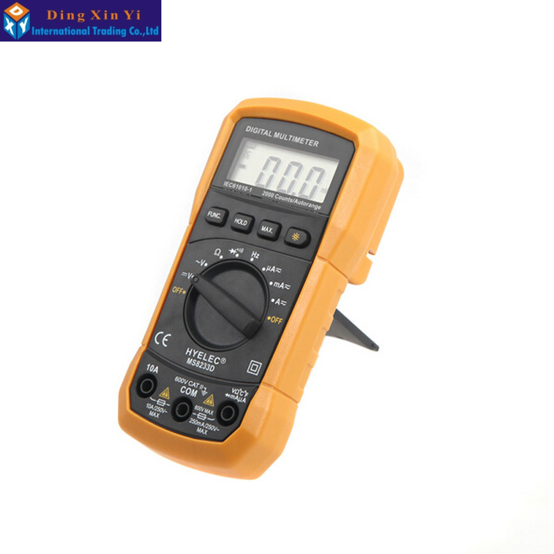 HYELEC MS8233D Portable Digital Multimeter Tester Professional Multifunction  DC AC Voltmeter Frequency<br><br>Aliexpress
