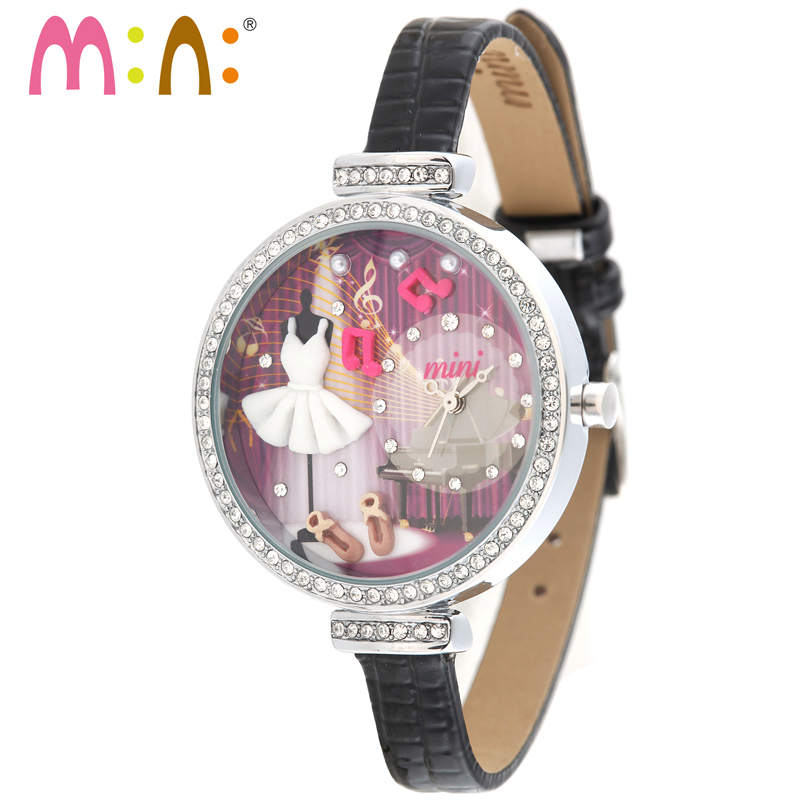 M:N: Handmade 3D PPOLYMER CLAY Watch Women Ladies Dress Children girls Cartoon casual Quarz wristwatch Relogio - Dancing girl<br>