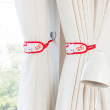 1pc Sanrio Hello Kitty Strong hooks for bandage Curtains Bathroom Wall Hanger Hook creative small hook(China)