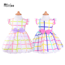 Dress for girl 2018 Kids Clothes Sleeveless Baby girl fashion casual Christmas Dress Snowflake Party Costume Children Clothing(China)
