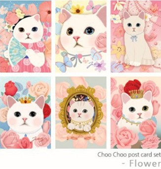 108pcs/lot = mix 36 designs,Vintage Cute Cat Postcards / Post Card / Greeting Cards(China)