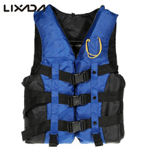 Professional Life Vest Life Jacket Adult Swimming Boating Drifting Safety Life Jacket Vest with Whistle L-2XL