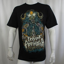OKOUFEN Authentic INFANT ANNIHILATOR Band Horned Priestess NEW men t shirt(China)