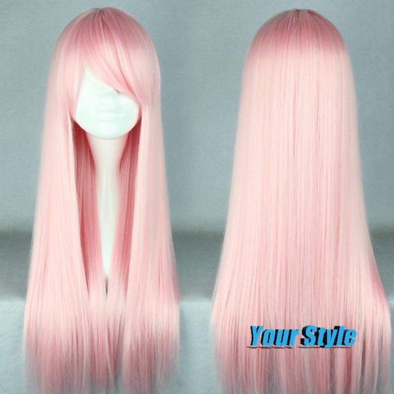 Japanese Harajuku Lolita Wig Natural Cheap Hair Wigs 70CM  Cosplay Pink Wig Hair Synthetic Japanese Fiber Peruca Cosplay<br><br>Aliexpress