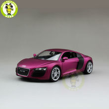 1/24 Audi R8 V10 Welly 22493 Diecast Model Car Matte Purple(China)