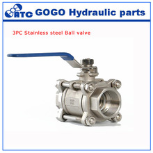 Socket weld ball valve Q61F 3pc ball valve AISI 304 316 stainless steel manual handle