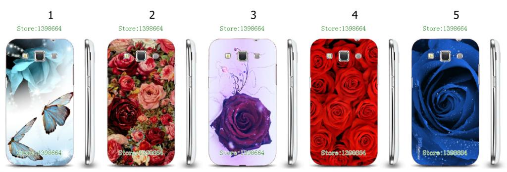 Online-custom rose hot hard plastic back cover case for Samsung Galaxy Win i8550/i8552/i8558 Free Shipping
