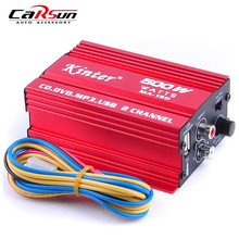 Car Amplifier AMP 2CH 500W USB Hi-Fi Digital Stereo Audio Amplifier Car/ Motorcycle / Boat /MP3/MP4/CD MA-150 Car Styling(China)