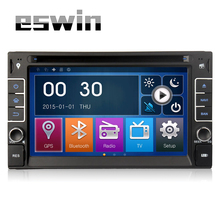 2din universal Car Radio Double 2 din Car Headunit  DVD Player GPS Navigation In dash Car PC Stereo video Free Map FM AM MP3 SD