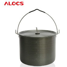 Alocs RT02 Outdoor Camping Cookware 10.5L Camping Cookware Ultralight Portable Camping Barbecue Picnic Cookware Pot(China)