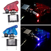 Auto Car SUV Red/Blue/Green/Yellow/Carbon Fiber/Crystal LED Toggle Engine Ignition Switch Start Starter Button Universal