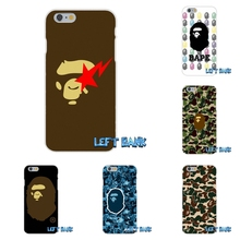 Japan popular fashion Bape Soft Silicone TPU Transparent Phone Cover Case For Huawei G7 G8 P7 P8 P9 Lite Honor 4C Mate 7 8 Y5II