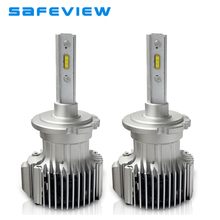 Safeview Car d2s d2r auto led headlight Bulbs 12V 72W D1S D3S D4S 6000K White Lighting H7 H4 H8 H9 H11 Assembly auto front lamp(China)