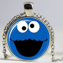 Cookie monster Glass photo Necklace keyring bookmark cufflink earring