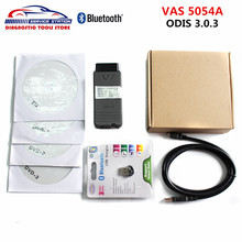 Best Price Professional VAS 5054A OKI With Bluetooth VAS 5054A ODIS 3.0.3 Diagnostic Tool Support Multi-language Free Shipping(China)
