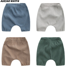 2017 Summer Children's Clothing Boys Shorts Toddler Solid Cotton Linen Baby Kids Clothes Shorts Bloomers Bottom Pants 1-6Y Bebe