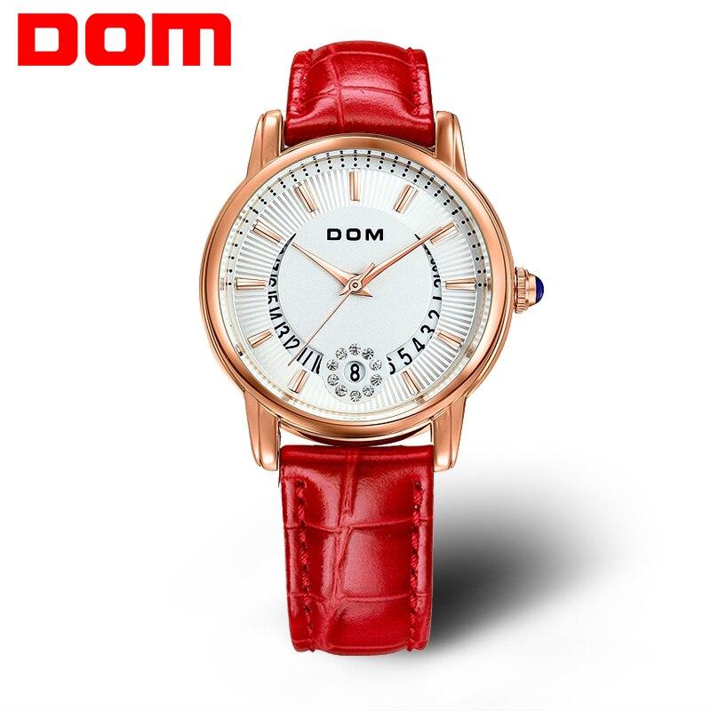 2016 new Dom G-1698L female leather strap fashion women watches brand luxury wristwatch ladies quartz watch<br>