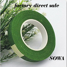 Free Shipping Deep Green Color 12mm  Paper Tape For Nylon Stocking Flower And Butterfly Wedding Decoration Accessories(5pcs/lot)