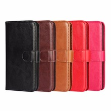 Newest Crazy Horse Pattern Leather Wallet Case for IPhone 7 Cell Phone Combination Flip Cover / Oil Skin with Clasp(China)