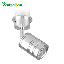 LemonBest 3/5W LED Spot Light 360 Degree Rotary Led Downlight with Moving Head Cool/Warm White Led Lights for Home AC/DC 12V