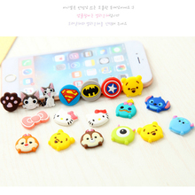 3 pieces/pack Cat/Squirrel Series Rubber Cartoon Home Button Sticker for Samsung/iPhone 5 5s 5c 6 6s plus Home Keyboard for iPad