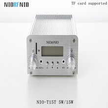Free Shipping Wholesale NIO-T15T 15W Stereo PLL FM Broadcast Equipment with TF Card Maximum 128G(China)