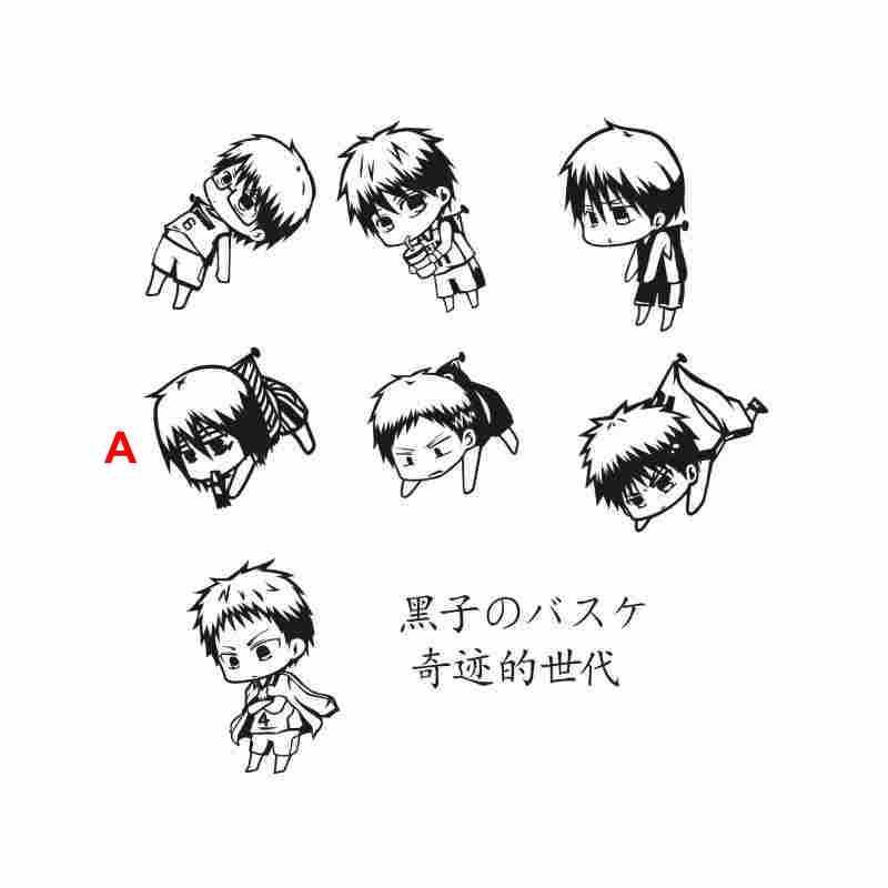 Pegatina Kuroko no Basket Sticker Anime Cartoon Car Decal Sticker Vinyl Wall Stickers Decor Home Decoration