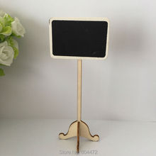 50x Wood Mini Blackboard Chalkboard Stand Place Holder Table Number for Weddings Party Decorations Baby Shower Table Sign