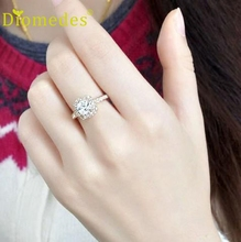 Diomedes HOT 1PC Princess Square Ring Luxury Elegance Fashion Wedding Ring cocktail rings,Romanticparty
