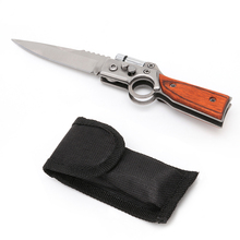 Tactical Folding Blade Knife Survival Hunting Camping Pocket Knife With LED New L15(China)