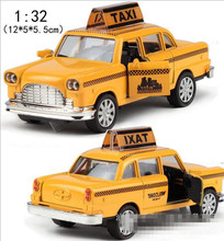 World model cars toy ! 1 : 32 alloy Sound and light pull back Taxis toy Models,super cool Taxis model, free shipping(China)