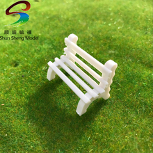 Scale 1:50-1:150 white Color Sand Construction Scene Model Material Park Chair Square Bench Chair Model