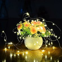 OSIDEN 2M 5M 10M 100 Led Strings Copper Wire 3XAA Battery Operated Christmas Wedding Party Decoration LED String Fairy Lights(China)
