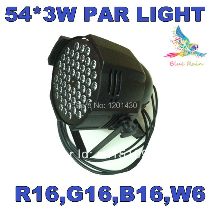 Original 54 * 3W RGBW LED Par Light,  PAR LED stage lighting, DMX controller led lamps, DJ equipment<br><br>Aliexpress