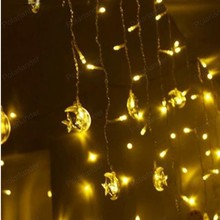 4M 20LED string stars with moonLight Christmas Wedding Party Decoration holiday led fairy lights fixtures(China)