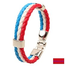 2016 hot European Cup Netherlands Bracelet woven high quality souvenirs bracelet for Netherlands football funs