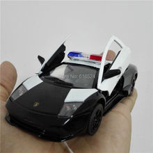 Brand New Super Cool Murcielago LP640 (Police) Die Cast Boys Fashion Vintage 1/36 scale Pull-Back Alloy model toy cars