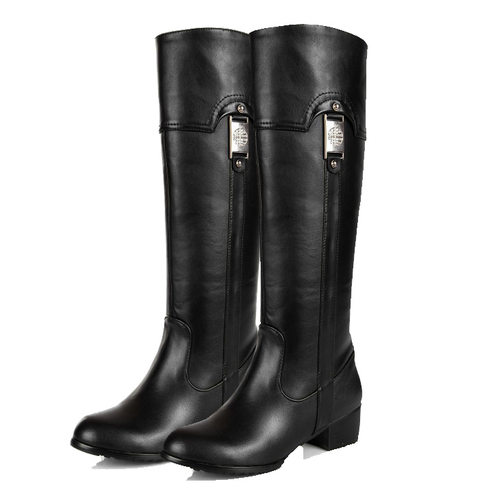 Free Shipping 2017 Genuine Leather Fashion-Knee-High Boots for Women Sexy Snow &amp; Winter Boots for women size: 30-45<br><br>Aliexpress