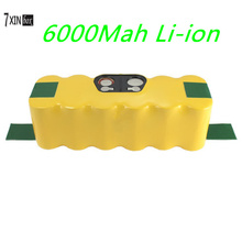 6000mAh Li-ion Battery for iRobot Roomba 510 530 540 550 560 570 580 610 562 800 660 80501 4419696 Vacuum Cleaner for irobot