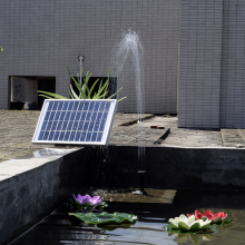 Garden Solor Power Plants Sun Plants Watering Solar Power Water Pump Power Panel Kit Fountain Pool Garden Pond Square 380L/H 5W