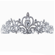 2017 NEW STYLE Romance Wedding Bridal Crystal Rhinestone Prom Hair Tiara Crown Veil Headband