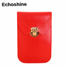 2016 hoe sale mini Women Zero Lock catch Purse Bag Leather Handbag Shoulder Crossbody Messenger Phone Bag wholesale