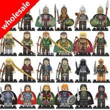 Wholesale 20pcs the Hobbits Figure Wraith Haldir Rohan Bowman Mordor Orc Lord of the Rings Boromir Building Blocks Models Toys(China)